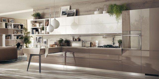 Cucina a tinte neutre cose di casa - Colori muro cucina ...
