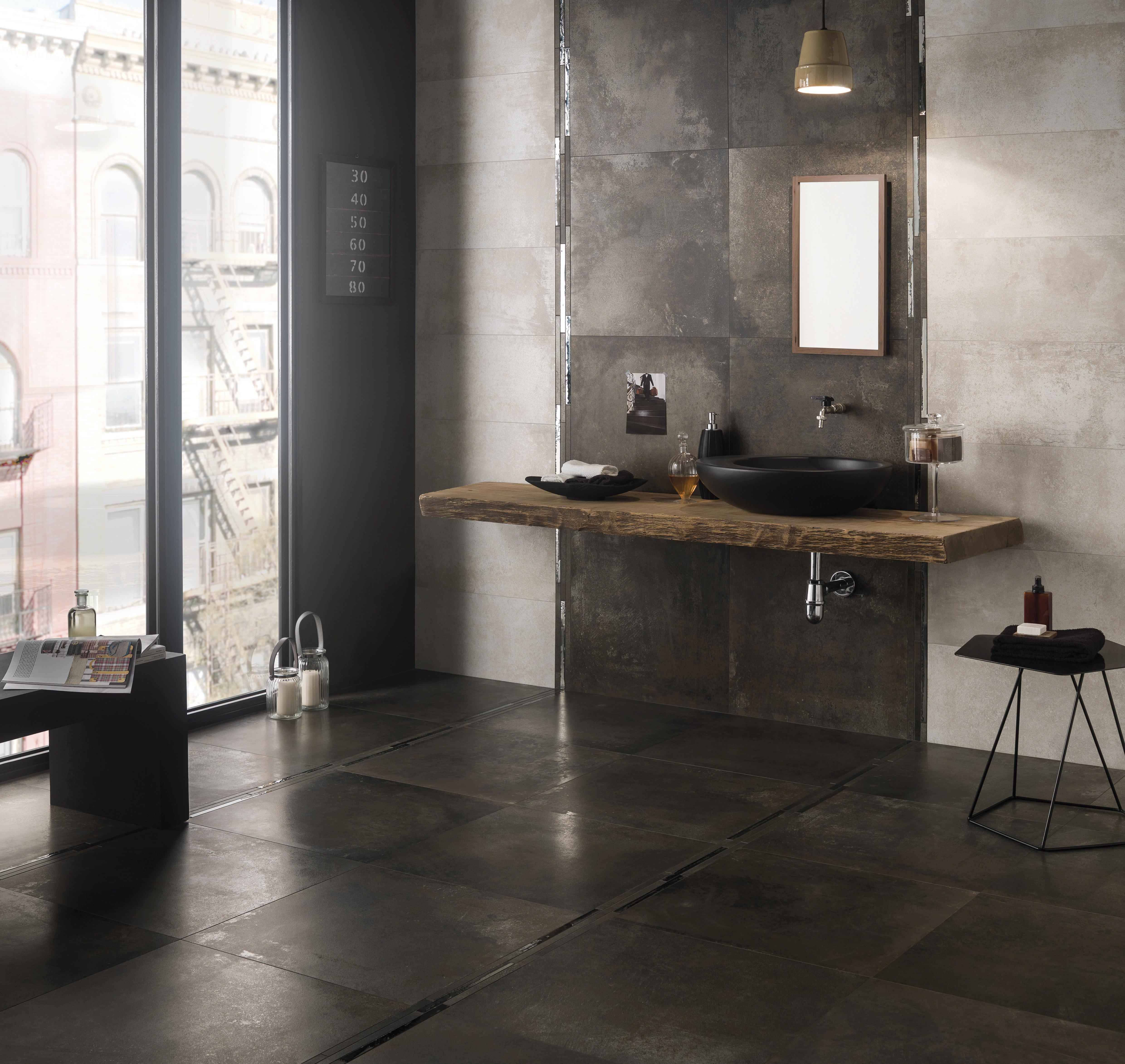 pavimenti e rivestimenti con effetto metallo per qualsiasi