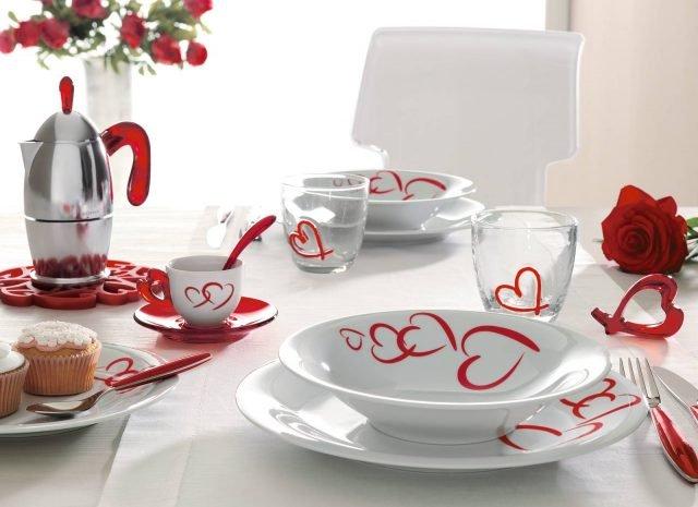 9 Guzzini Love tavola San Valentino