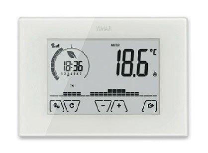 Il cronotermostato Wi-Fi ClimaChrono di Vimar può essere gestito anche a distanza tramite un'app per smartphone e tablet.