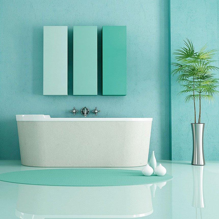 4 ambientazioni bagno con abbinamenti da copiare cose di - Vernice per bagno ...