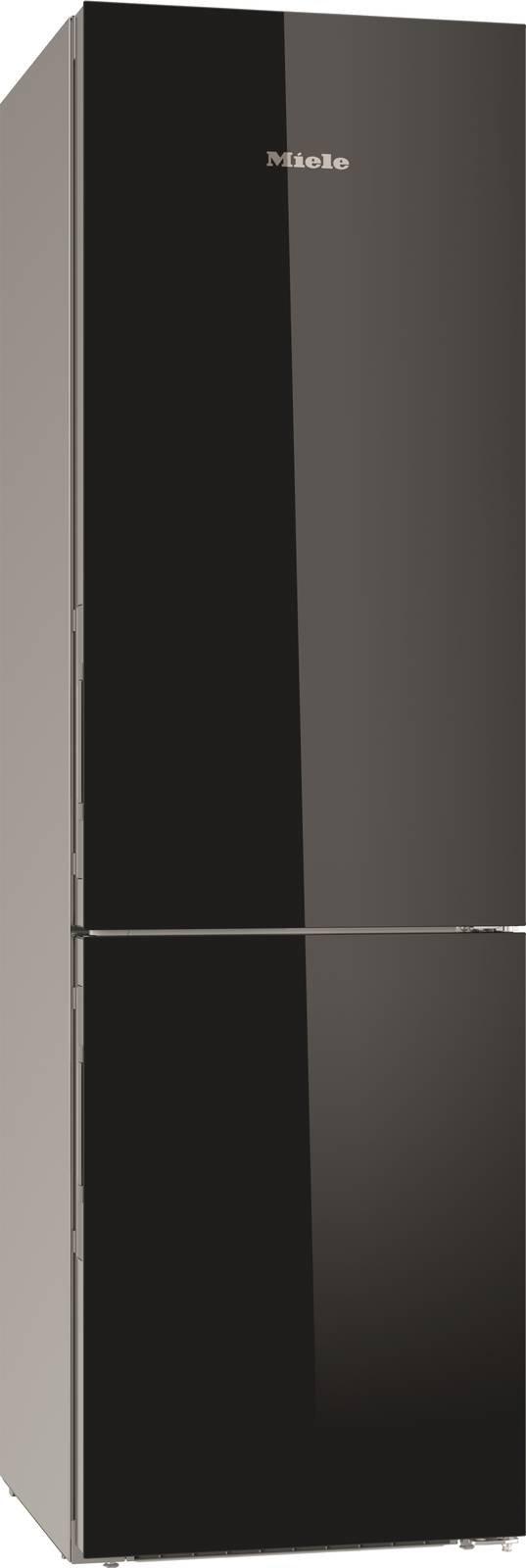 Il frigorifero combinato KFN 29683 D obsw di Miele ha l'illuminazione a LED dei ripiani in vetro FlexiLight che illumina senza abbagliare e che essere posizionata in modo flessibile. In classe A+++, ha profondità maggiore per consentire di riporre anche oggetti grandi e voluminosi come teglie da forno. Misura L 60 x P 68,5 x H 201 cm. Prezzo 2.899 euro. www.miele.it