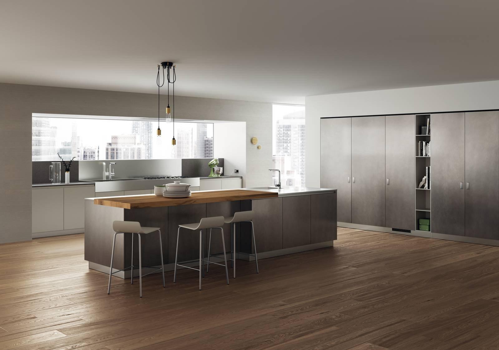 Cucina con l 39 isola in genere divise in due blocchi cose di casa - Cucine open space con isola ...