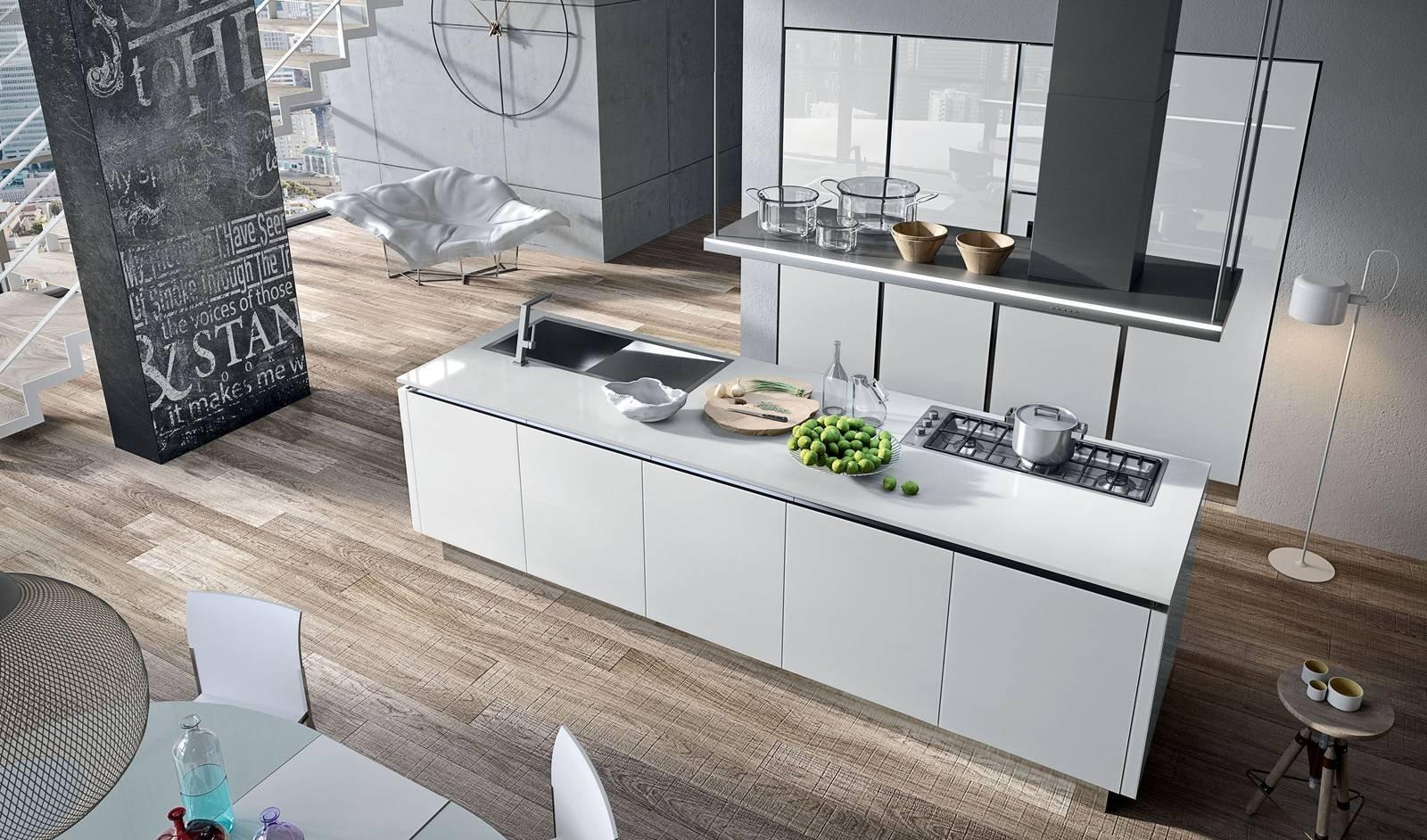 Cucina con l isola in genere divise in due blocchi - Cucina con l isola ...
