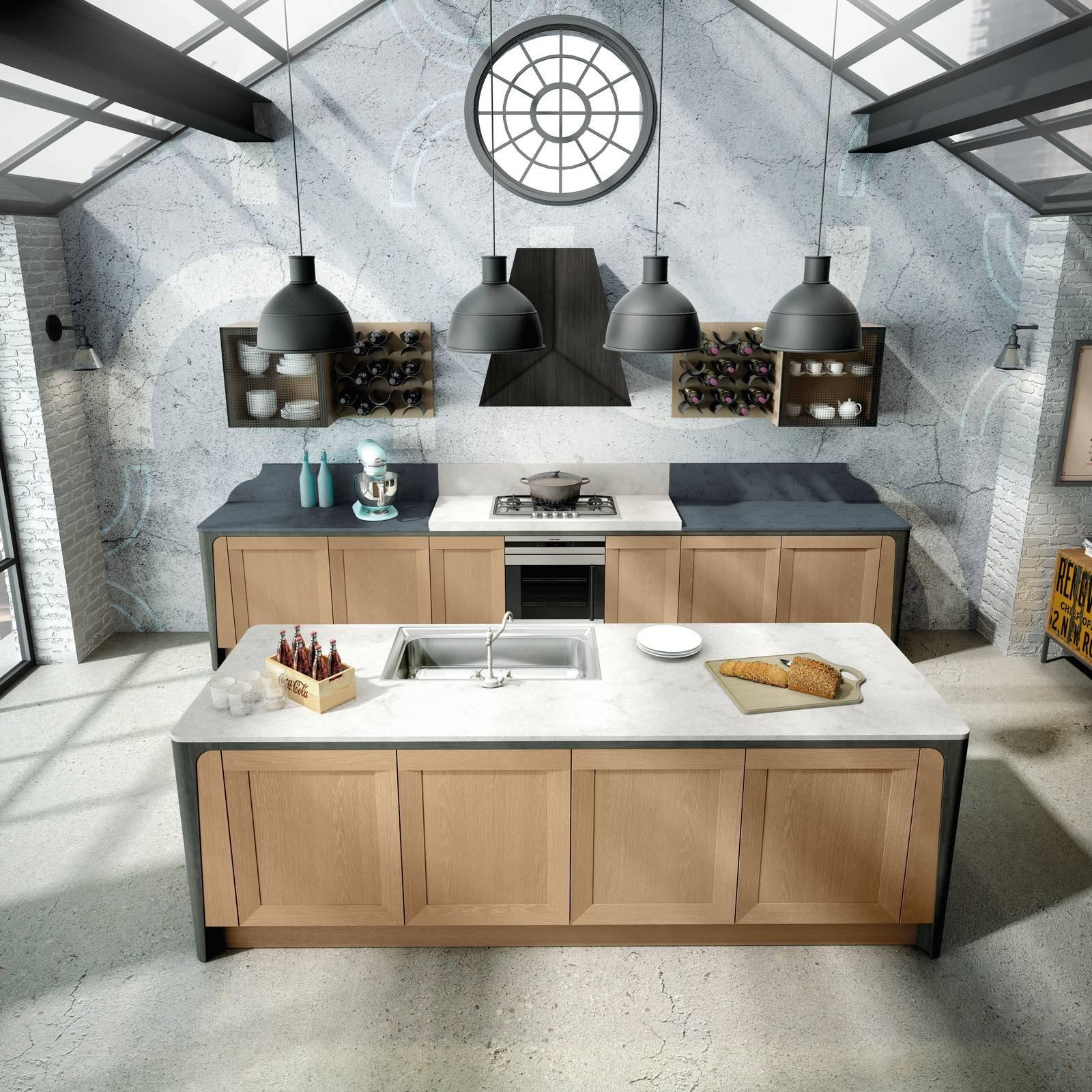 Cucina con l 39 isola in genere divise in due blocchi cose di casa - Cucine berloni 2017 ...