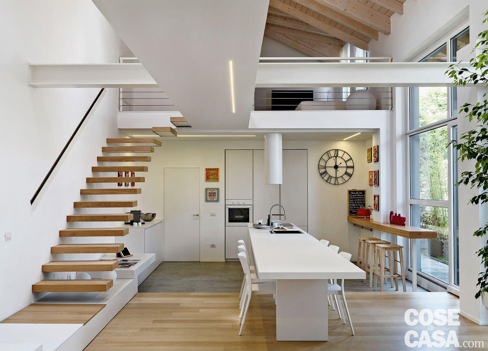 Loft una casa sottotetto a doppia altezza cose di casa - Altezza parapetto finestra ...
