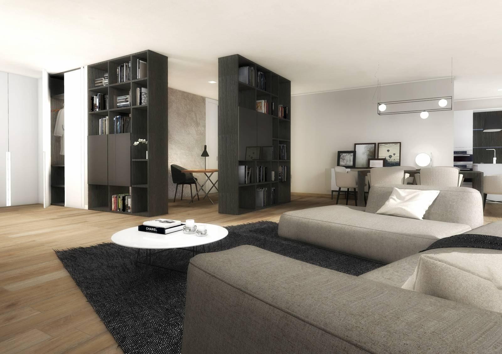 Progetto due stanze in una in soggiorno lo studio in - Camera soggiorno ...