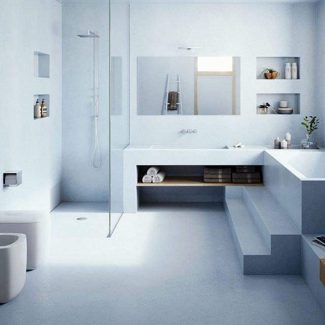 Con 3 mm di spessore, Microtopping® di Ideal Work riveste tutte le superfici del bagno: pavimenti, pareti e arredi. È un prodotto a base d'acqua, resiste all'umidità e costa a partire da 85 euro.