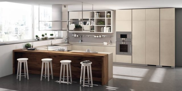 La cucina a U: raccolta, ergonomica, funzionale
