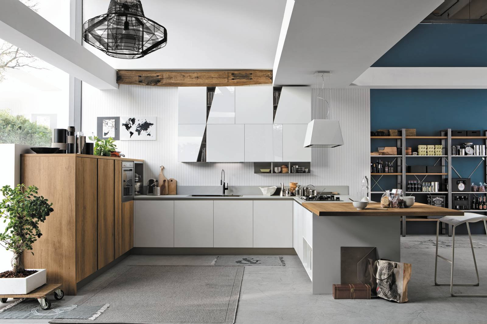La cucina a u raccolta ergonomica funzionale cose di casa - Cucine ad angolo con penisola ...