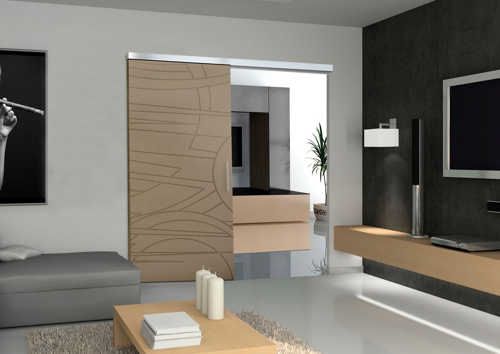 Per dividere gli ambienti o trasformarli in un unico spazio le porte scorrevoli di grandi - Spazzole per porte scorrevoli ...