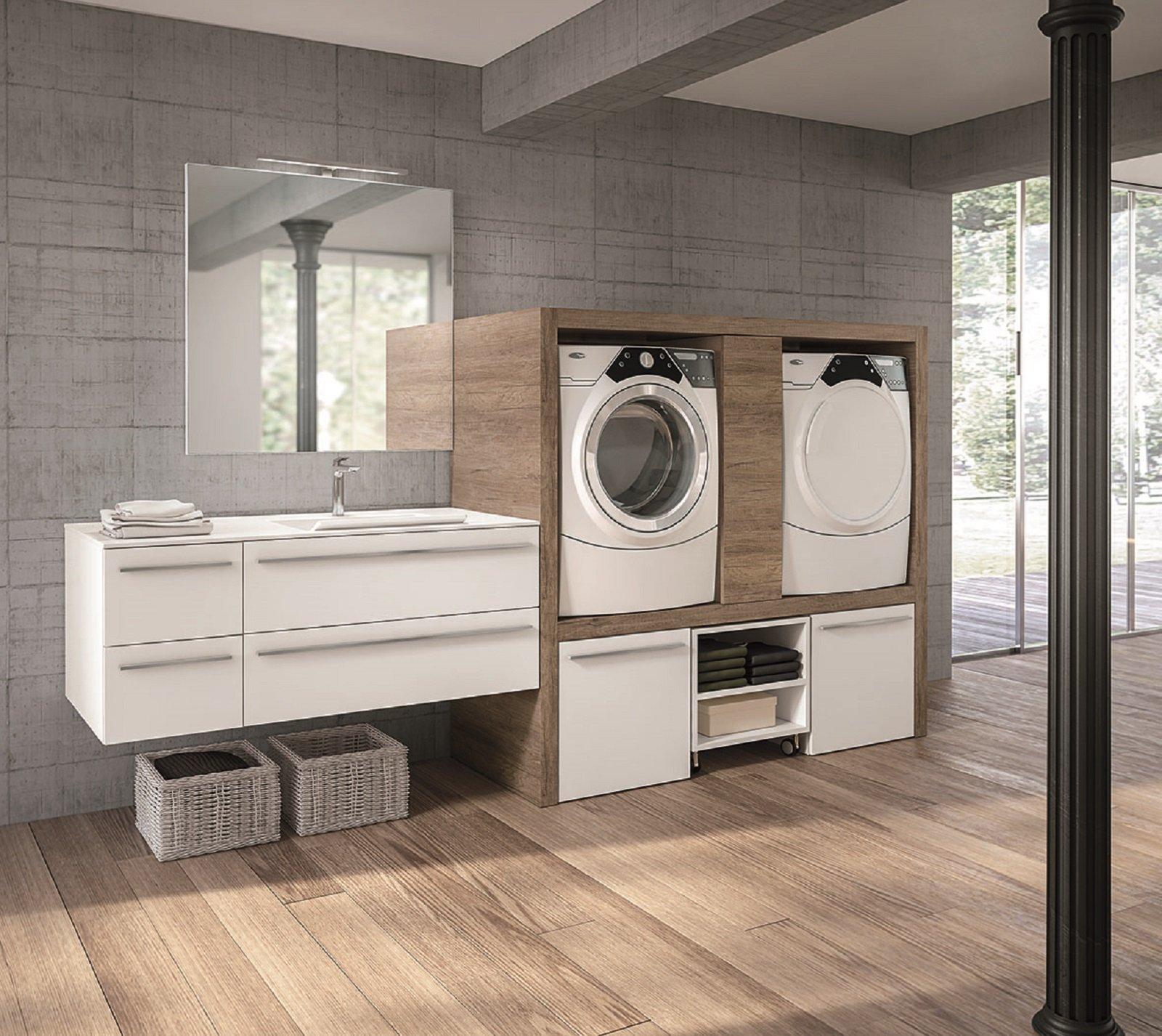 Lavanderia in bagno cose di casa - Lavatrice in bagno soluzioni ...