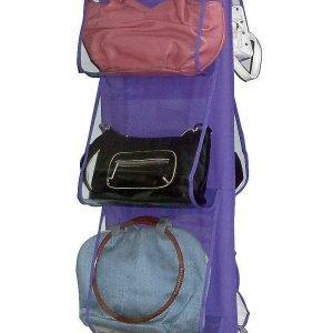 Di D-Mail,il portaborsette (adatto anche per le scarpe) ha 8 tasche pratiche e trasparenti; misuraL 20 x P 32 x H 117 cm e costa 10,90 euro. www.dmail.it