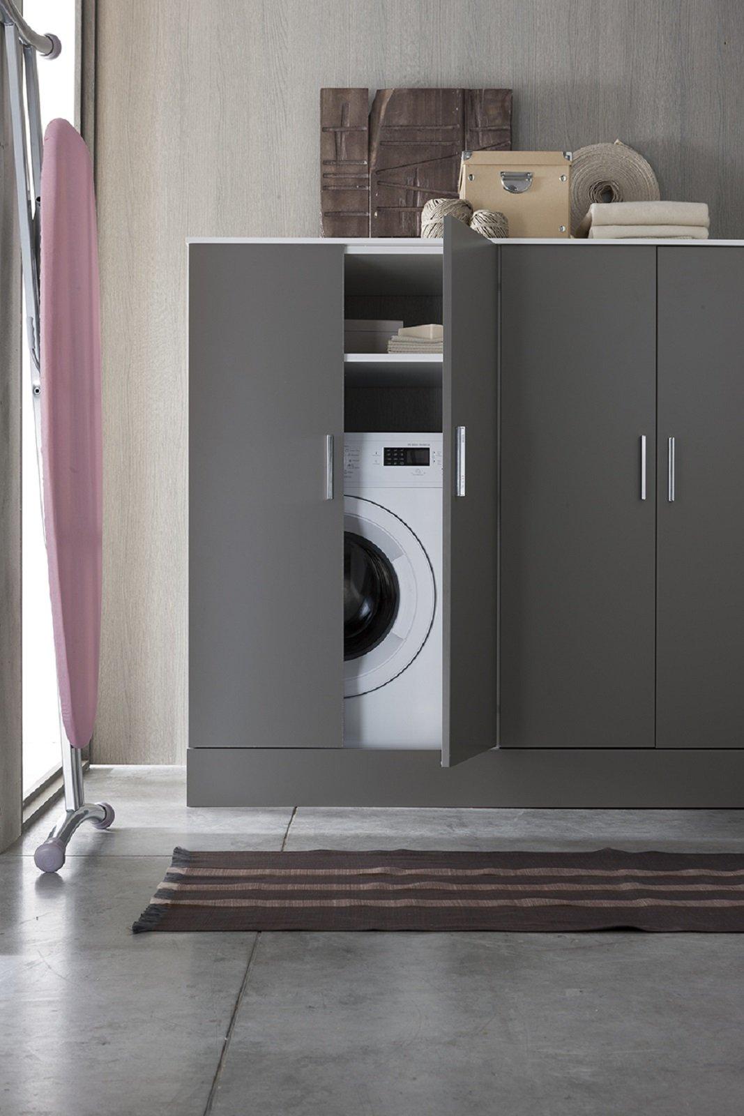 Lavanderia in bagno cose di casa - Mobile bagno con lavatrice incassata ...