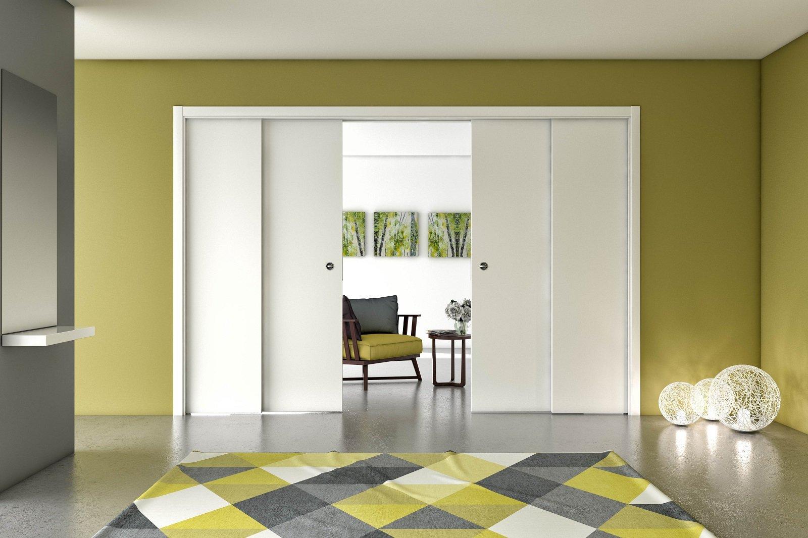 Per dividere gli ambienti o trasformarli in un unico spazio le porte scorrevoli di grandi - Dividere una porta finestra ...