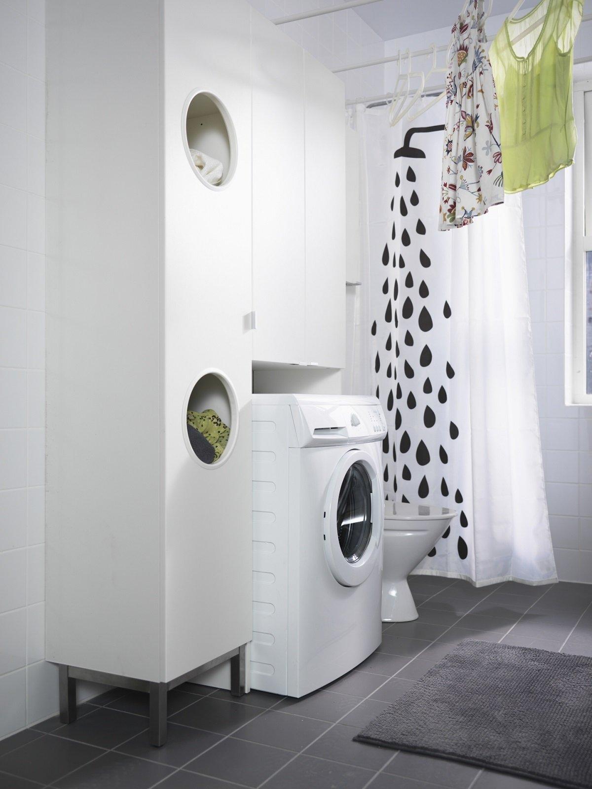 Lavanderia in bagno cose di casa - Mobile lavatrice asciugatrice ikea ...