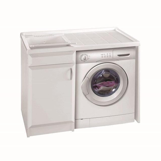 Lavanderia in bagno cose di casa - Mobile porta lavatrice e asciugatrice leroy merlin ...