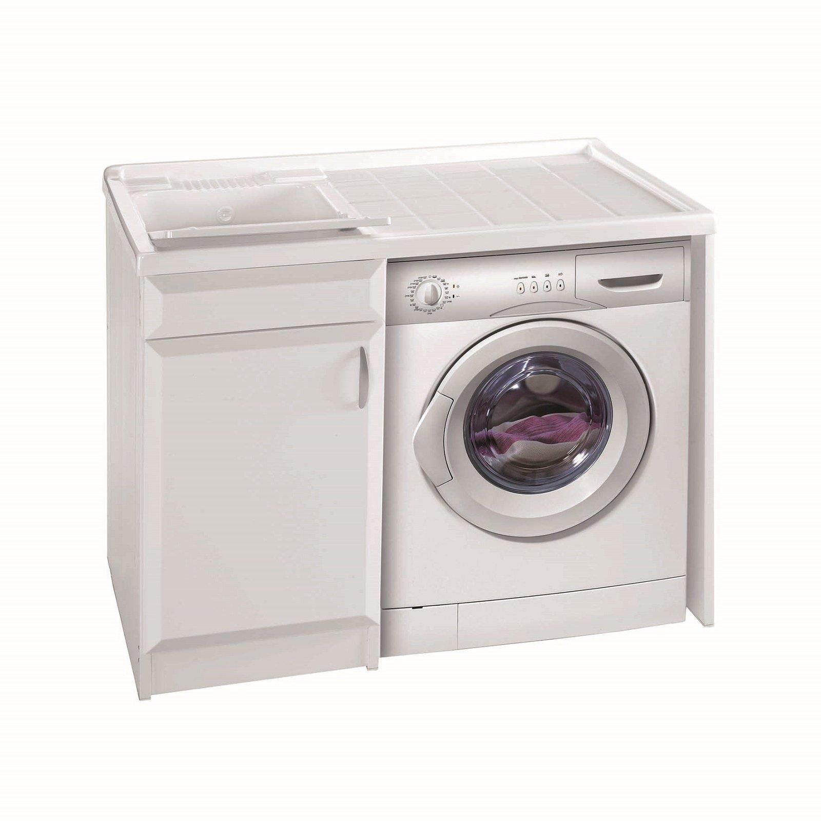 Mobile Lavello E Lavatrice lavanderia in bagno: foto e composizione per nascondere