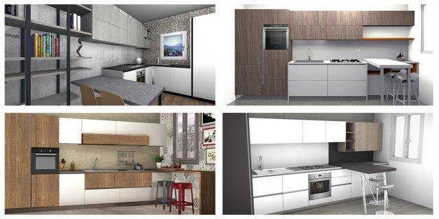 4 progetti cucina per 10 mq circa