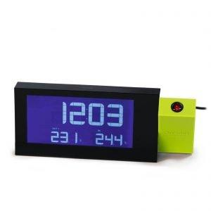 € 59,90  Proietta esternamente ora  e temperatura l'orologio radiocontrollato RRM222P di Oregon Scientific con cui si ascolta anche la radio. Misura L 20 x P 2,2 x H 8 cm.  www.oregonscientificstore.com