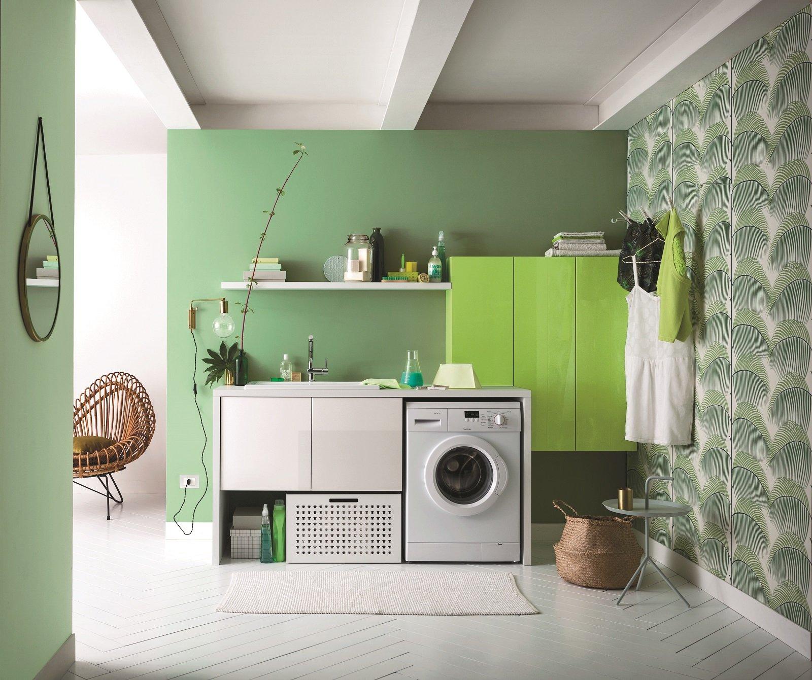 Lavanderia in bagno cose di casa for Piccoli piani di casa verdi