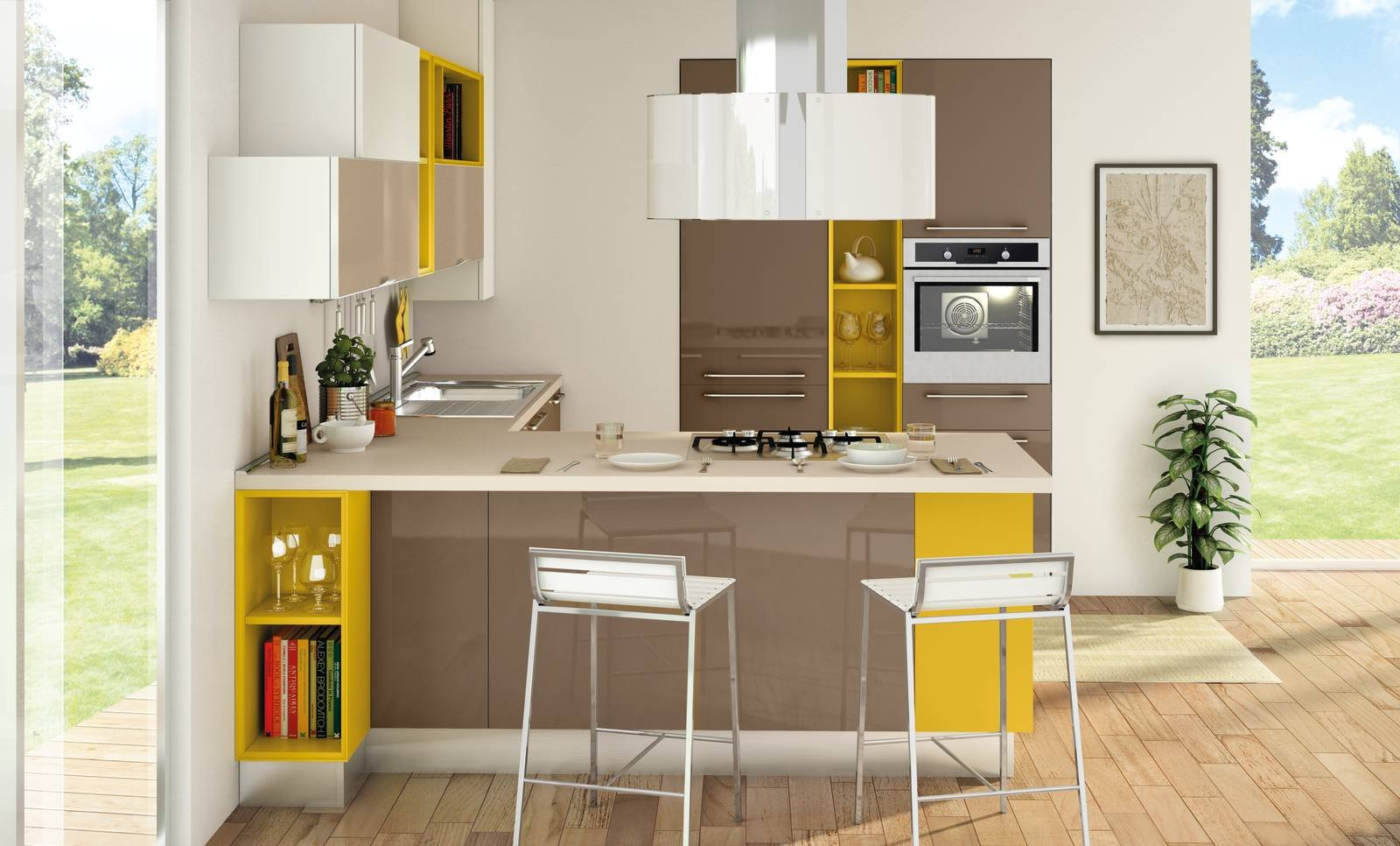 mini cucina 5 soluzioni per la cucina piccola cose di casa. Black Bedroom Furniture Sets. Home Design Ideas