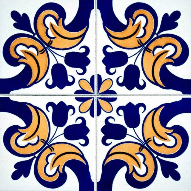"""Piastrella Sun 1 della collezione Easy Tiles di BellaCasa. Piastrella adesiva removibile e riutilizzabile. Il collante""""bubble free""""anti bolle, rende più semplice e più veloce la posa. Misura cm 20×20. Prezzo 3,75CAD. www.dekoidea.com"""