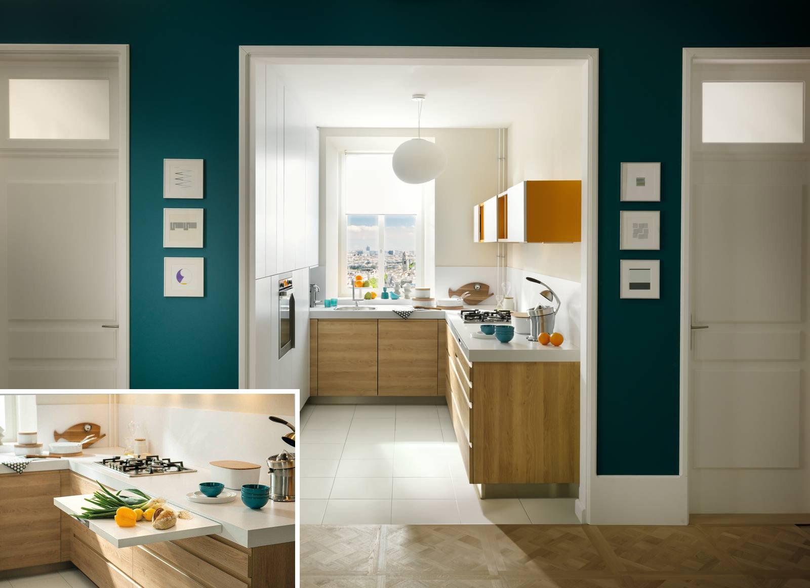 Mini cucina 5 soluzioni per la cucina piccola cose di casa - Colori per cucina piccola ...