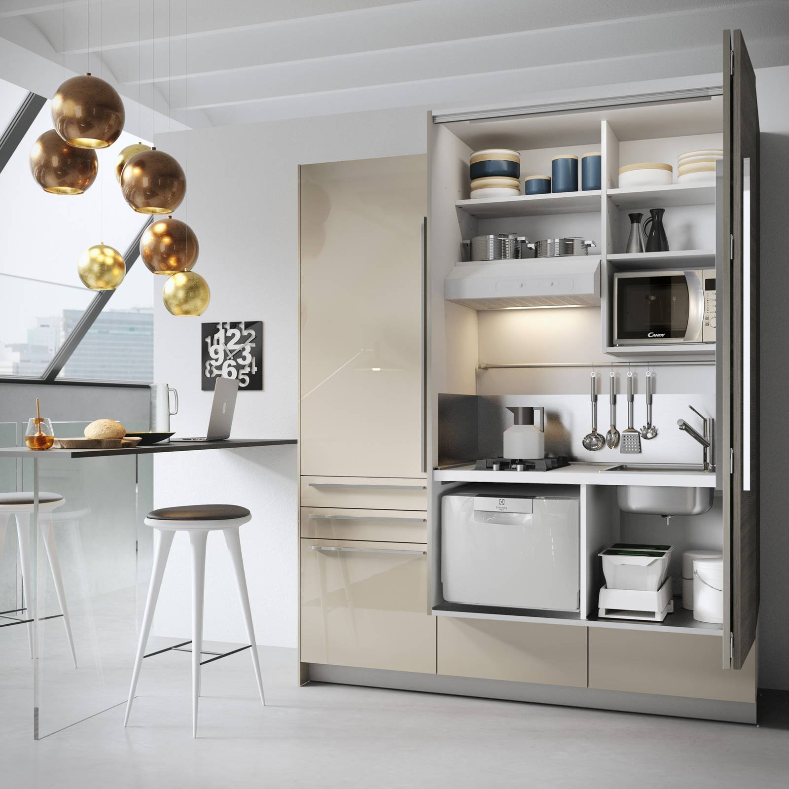 Mini cucina 5 soluzioni per la cucina piccola cose di casa for Piccola cucina a concetto aperto