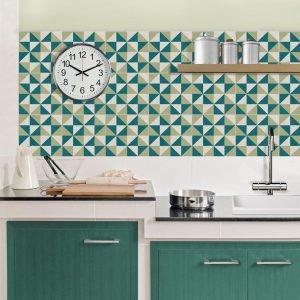 Adesivi c per parete o pavimento 14 soluzioni per un - Piastrelle geometriche cucina ...