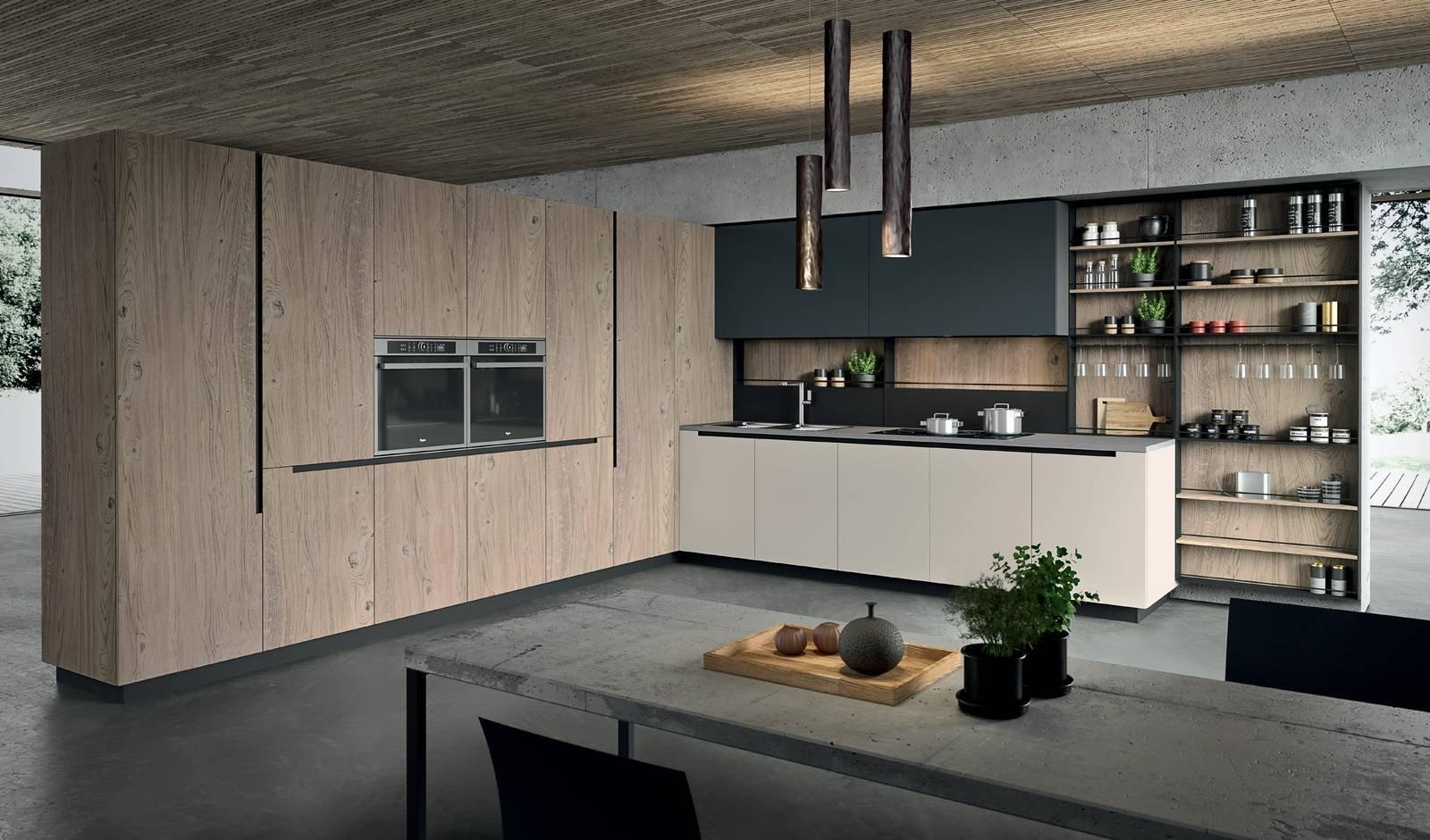 Cucina a l 10 composizioni ad angolo cose di casa - Composizione cucina ad angolo ...