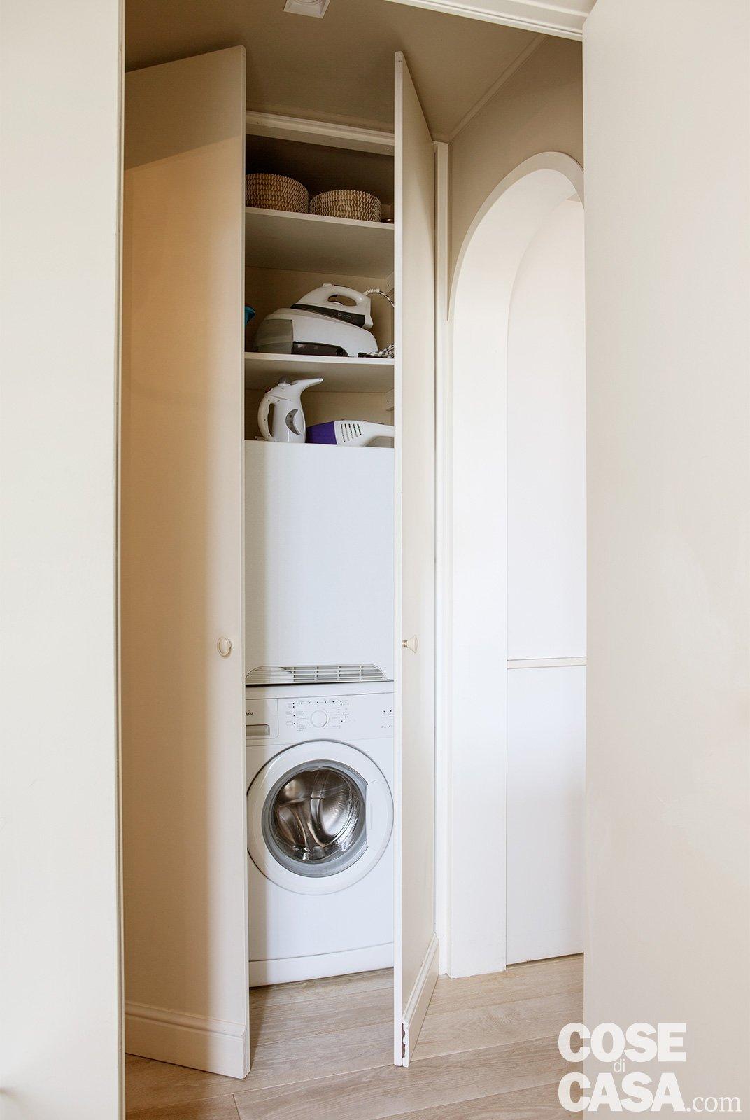Bilocale di 43 mq mini spazi ben sfruttati nella casa for Armadio lavanderia