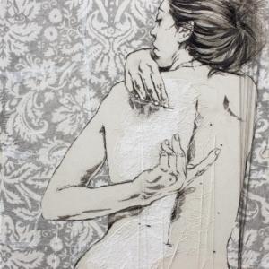 ilaria margutti,  Above the Skin, misura 110 × 110 cm, ricamo su tela 2013, www.artsweetart.net