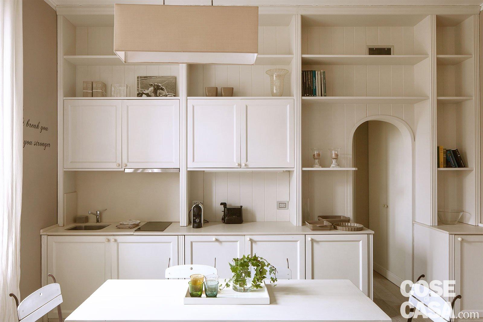 Bilocale di 43 mq: mini spazi ben sfruttati nella casa con tanta