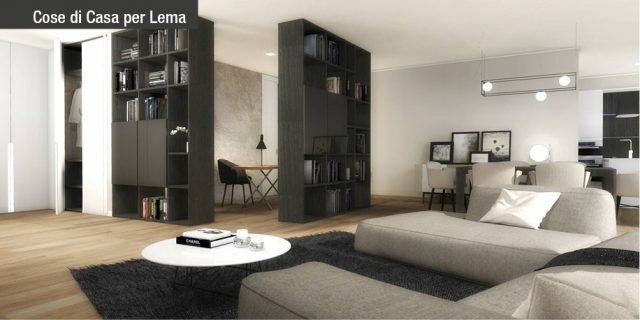 """Progetto """"due stanze in una"""": in soggiorno lo studio, in camera la zona wellness"""
