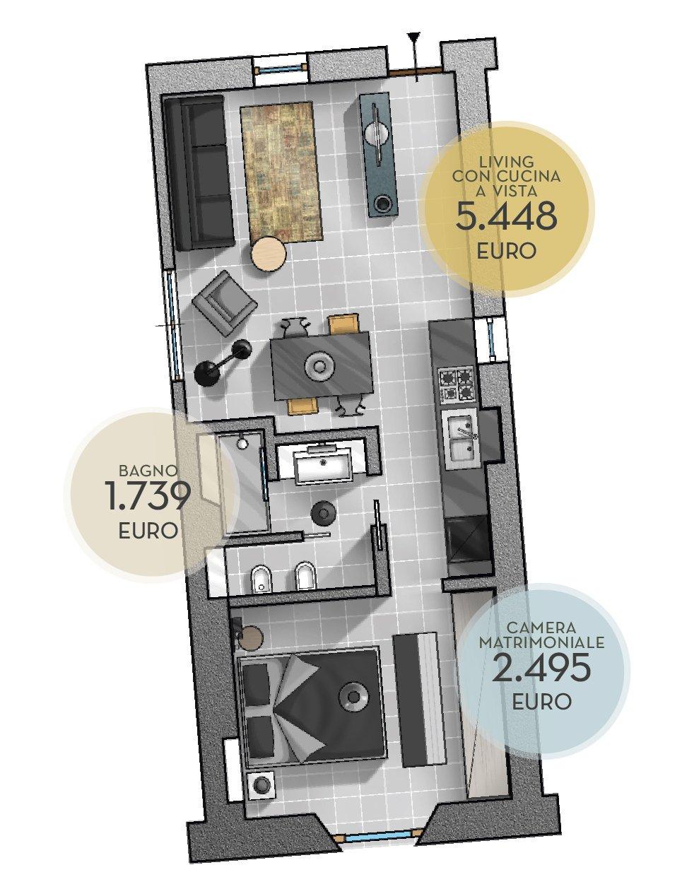 arredare una casa in affitto con soluzioni low cost - cose di casa - Arredo Bagno Pero