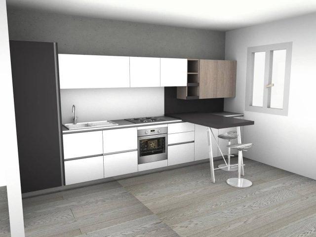 4 progetti cucina per 10 mq circa cose di casa for Cose di casa progetti