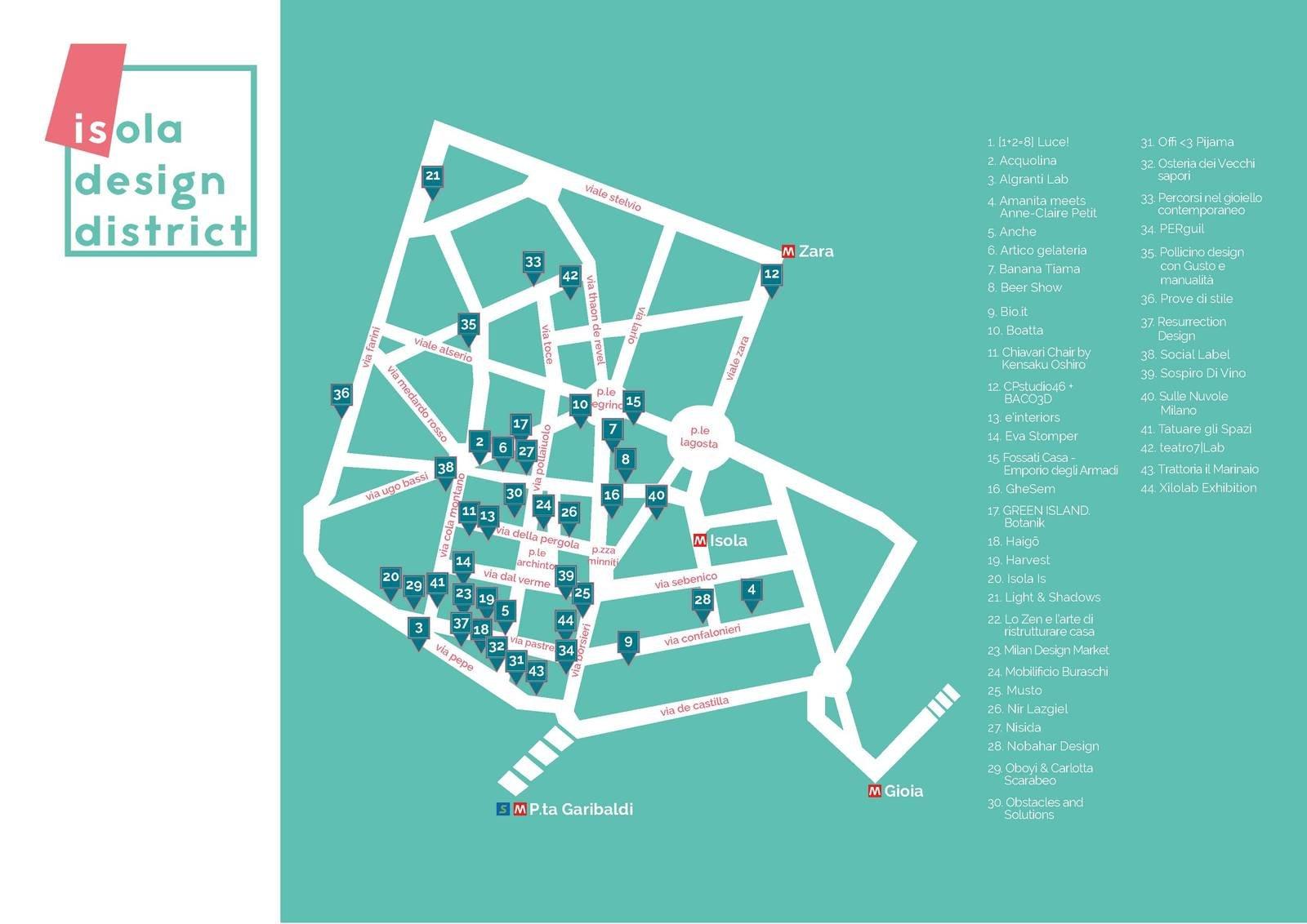 Isola design district una nuova passeggiata nel design for Design della mappa di casa