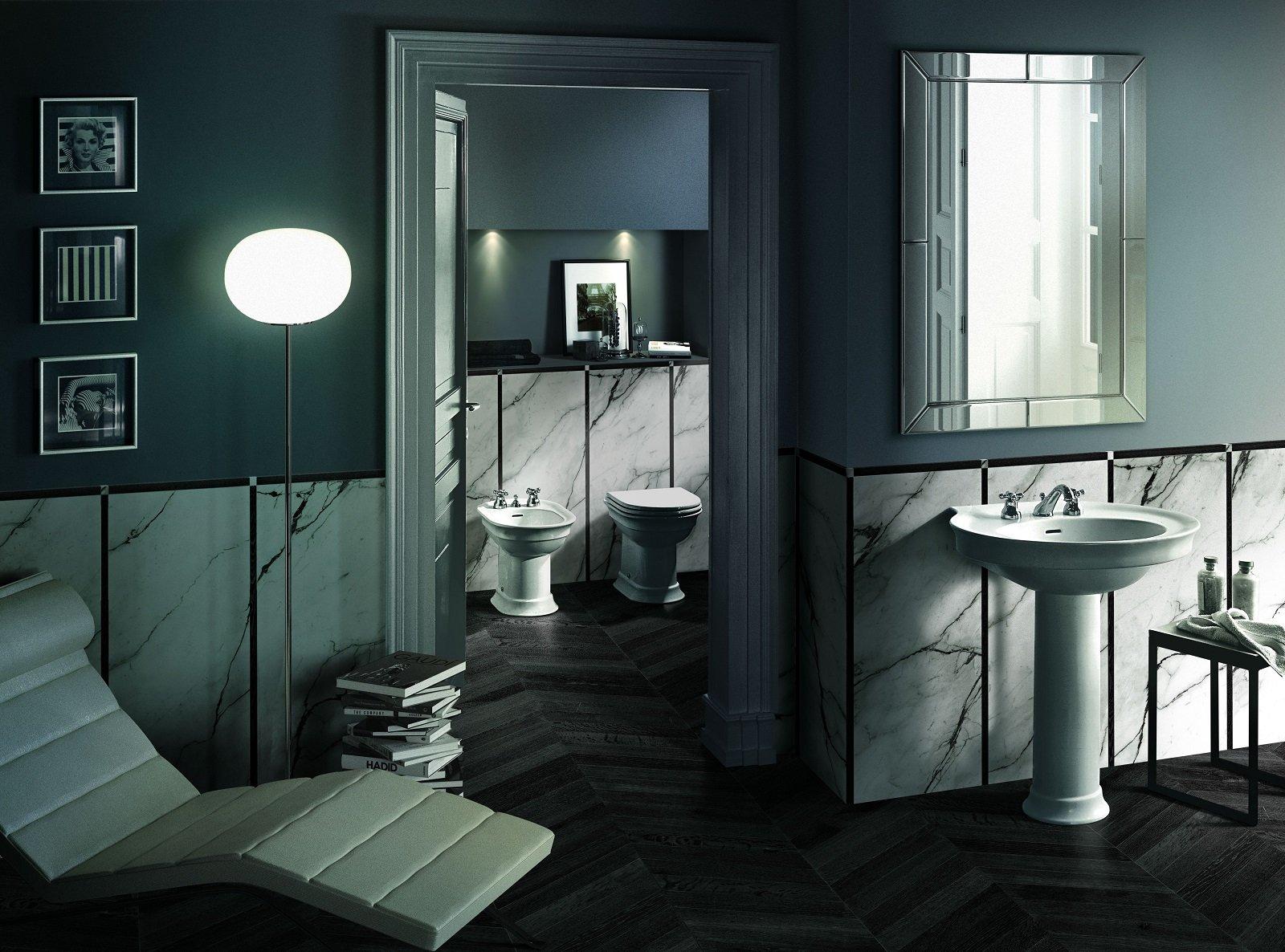 Scarico Della Vasca Da Bagno In Inglese : Realizzare un raffinato ambiente bagno di gusto romantico e retrò