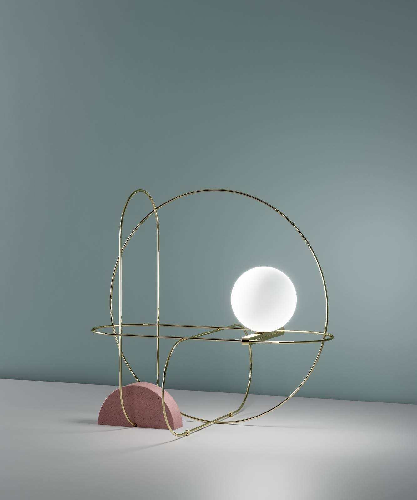 Lampade da tavolo illuminazione scultorea a euroluce 2017 - Base per lampada da tavolo ...