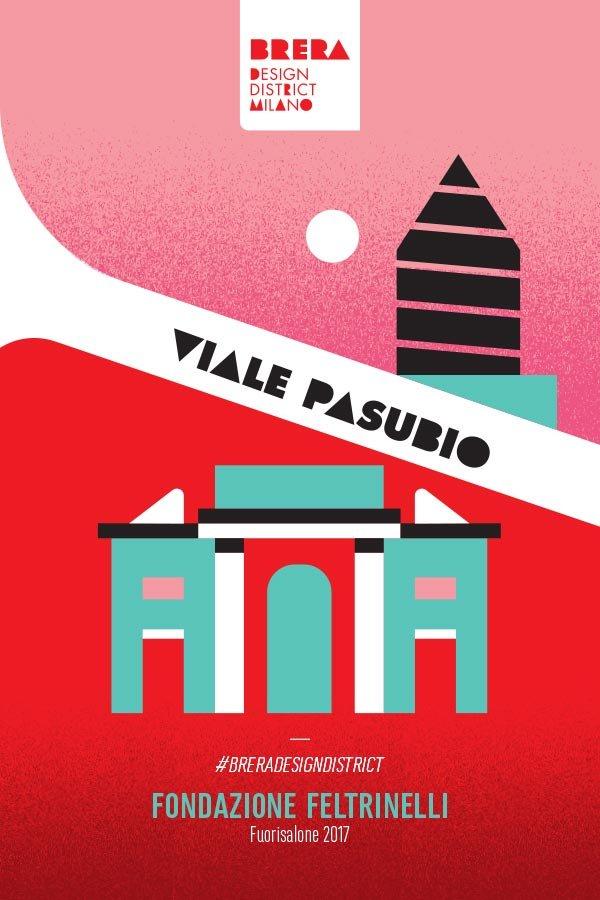 L'illustrazione pensata da Stefano Marra per la zona di Viale Pasubio.