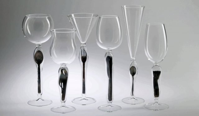 I calici di Massimo Lunardon Kerouac disegnati nel 2002.