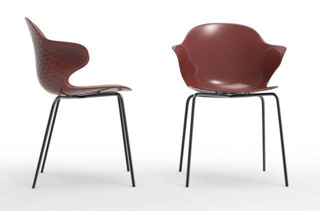 Saint Tropez di Calligaris è la nuova sedia con l'ampia scocca interamente realizzata in policarbonato rosso ossido lucido disponibile in quattro colori trasparenti e quattro coprenti lucidi; lo schienale è impreziosito da un originale motivo effetto trapuntato. Le esili gambe sono in metallo verniciato nero opaco; è facilmente impilabile per ottimizzare lo spazio. Misura L 57 x P 52 x H 80 cm. www.calligaris.it