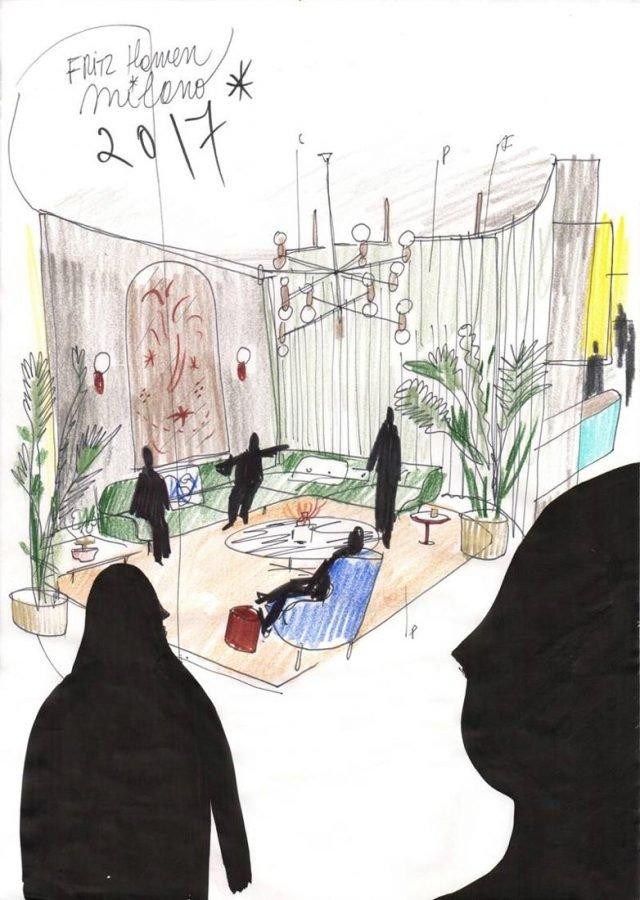Il progetto di Fritz Hansen per un immaginario hotel in stile Liberty.