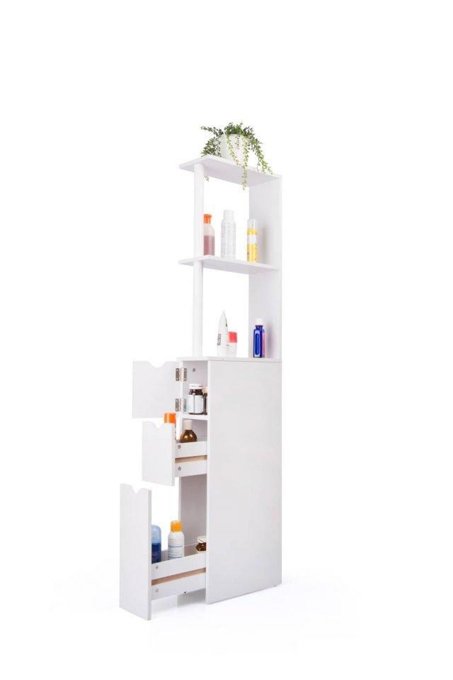 Soluzioni per un bagno piccolo piccolo cose di casa - Mobiletto salvaspazio bagno ...
