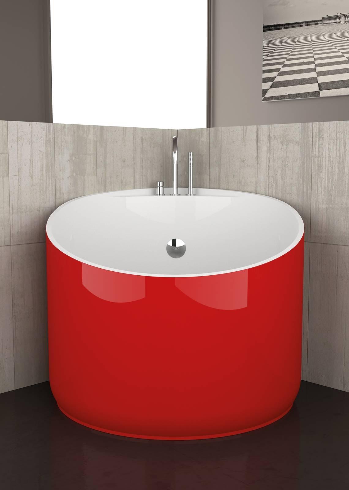 Excellent vasca mini design marco pisati di glass design italy realizzata in bimat with bagno - Design bagno piccolo ...