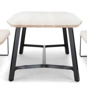 S 1092 di Thonet GmbH è il nuovo tavolo, grande e robusto nello stesso tempo, con il piano realizzato in massello di frassino o rovere e le quattro gambe  in acciaio piatto curvato nero effetto ghisa; il traverso di collegamento tra le gambe è in legno e funge da pratico poggiapiedi. Il piano con gli angoli arrotondati è lungo fino a 250 cm. Sono disponibili anche le nuove panche coordinate in grado di ospitare quattro persone. Misura L 250 x P 100 x H 73 cm. www.thonet.de