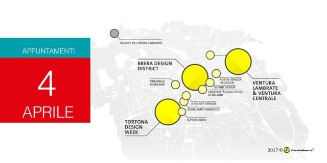 Milano Design Week 2017: eventi del 4 aprile per il Fuorisalone
