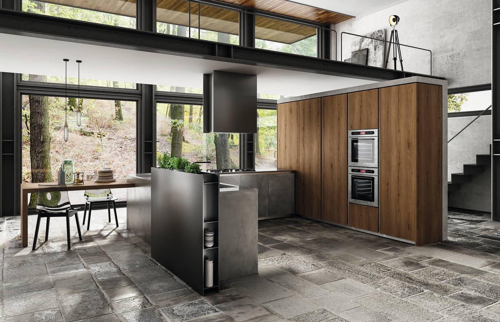 Cucine industriali scegliere i mobili le lampade le for Cucine industriali
