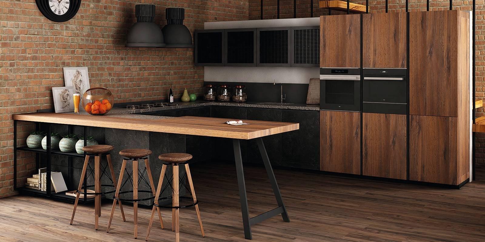 Cucine industriali scegliere i mobili le lampade le - Cucina a ferro di cavallo ...